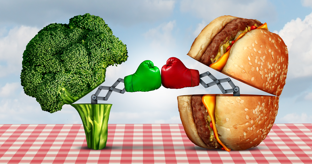 Broccoli vs Burger