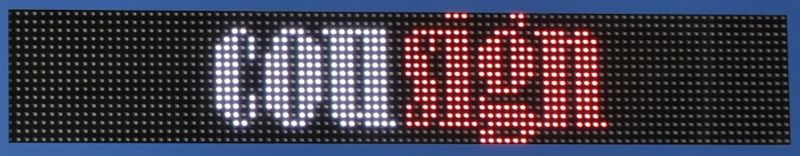 Full Color Scrolling Message Display