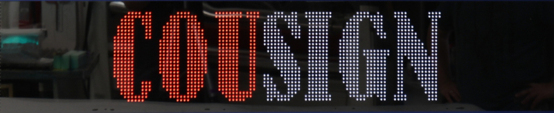 Full Height Large Outdoor Scrolling Message Display