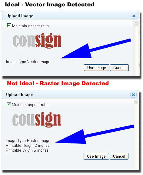 Vector vs Raster Image Upload