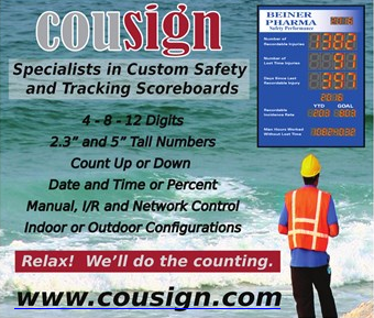 Cousign Specialists in Custom Safety and Tracking Scoreboards