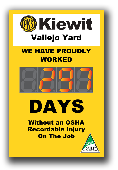 Safety Scoreboard with 5 inch counter