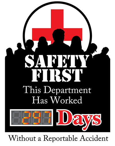 Accident Free Days Counter. Design Online. Stay Accident free!