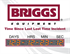 Time since last lost time incident sign for Briggs equipment design.