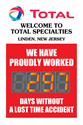 Total Welcome To Total Specialties Linden New Jersey. We have proudly worked days without a lost time accident.