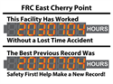 This facility has worked hours without a lost time accident