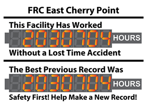 Picture of Hour Tracking Digital Safety Scoreboard with Dual Displays (36Hx48W)