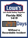 Picture of Days without Accident Sign with One Large Display (48Hx36W)