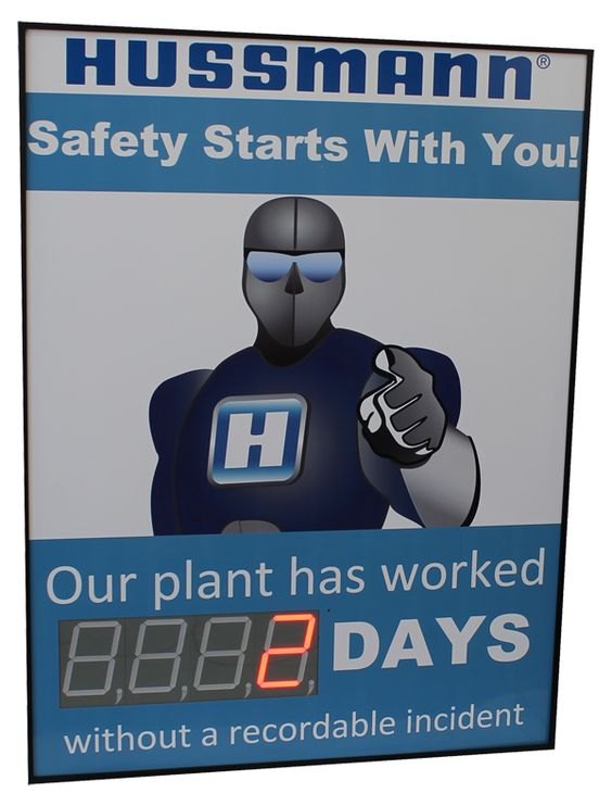 Days without Accident Sign with One Large Display (48Hx36W)