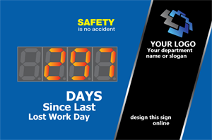 Picture of Days Without Accident Sign with Large Display (24Hx36W)