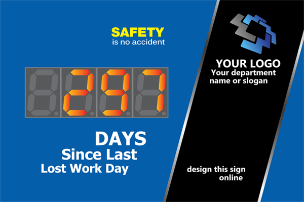 Days since last work day generic design