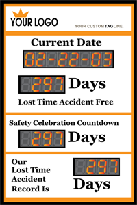 Current Date, Safety Celebration Countdown