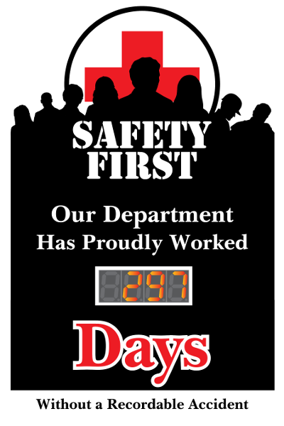 Safety first Our Department has proudly worked days without a recordable accident