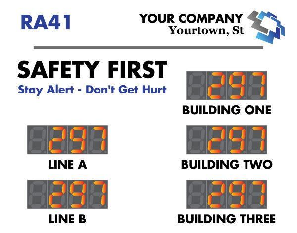 Safety Scoreboard with 5 counters generic design