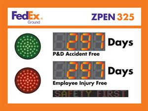 Picture of Two Large Displays, Red and Green Stop lights, Scrolling Message (36Hx48W)