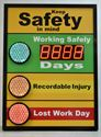 Picture of Stoplight Days Without Accident Signs with Large Display (48Hx36W)