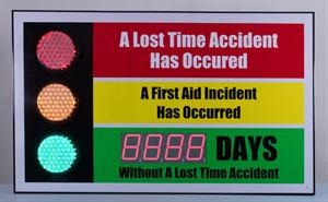 Picture of Stoplight Safety Scoreboard with Large Display (36Hx60W)