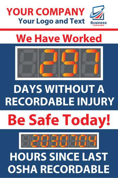 We have worked days without a recordable injury. Be Safe Today! Hours since last OSHA recordable.