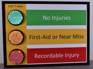 Picture of Stoplight Safety Sign (36Hx48W)