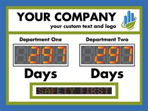 Your company. Department one, Department two.