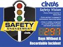"Picture of 4"" Stoplight Days Without an Accident Sign with Large Display (36Hx48W)"