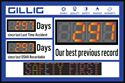 Picture of Scrolling Days Without Accident Sign with two Regular and one Large Display (24Hx36W)