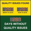 Picture of Custom Days Without Accident Sign with Three Large Counters (48Hx48W)