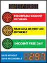 Picture of Stoplight Days Without Accident Signs with Large Display and Scrolling Message (48Hx36W)