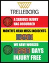 Picture of Stoplight Days Without an Accident Sign with Two Numeric Display (28Hx22W)
